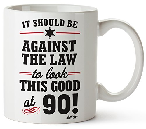 Image of the 90th Birthday Gifts For Women Ninety Years Old Men Gift Mugs Happy Funny 90 Mens Womens Womans Wifes Female Man Best Friend 1930 Mug Male Unique Ideas 30 Woman Wife Gag Dad Girls Guys Good Husband
