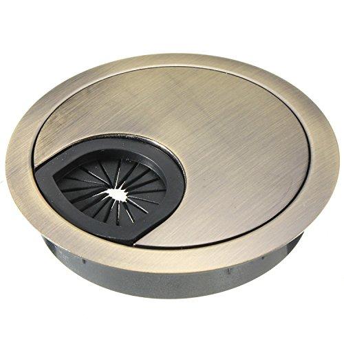 Kabeldurchführung Kabeldurchlass Cable Hole Cover aus Metall Ø 50 mm Bronze