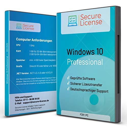 Windows 10 Pro – Vollversion │DVD BOX – 32/64 bit inkl. Updates + Kundensupport │ Aktivierungsschlüssel per E-Mail │ deutsch │