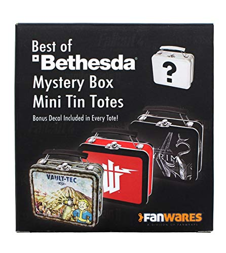 toynk Bethesda Games Mystery Tin Mini Tote Lunchbox-Style Container |One Random Tote
