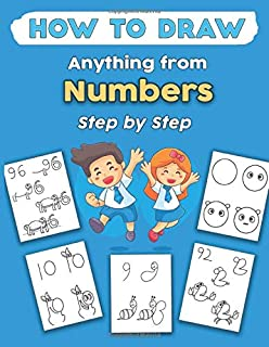 How To Draw Anything from Numbers Step by Step: How To Draw Anything from Numbers. Animals, Ship, Cartoon, Unicorn, Dinosa...