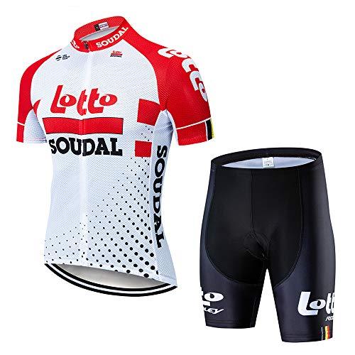 Maillot Ciclismo y Culote Traje Ciclismo Equipacion para MTB Ciclista Conjunto Ciclismo Hombre Verano con 3D Acolchado de Gel