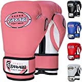 FARABI 8oz Junior Boxing Gloves Kids Boxing Gloves 8-oz Boxing Gloves Sparring, Training Bag Mitt Gloves for Punching, Sparring, Workout, Training (8-OZ, Pink)