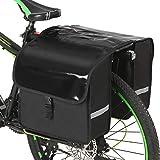 Lixada Bolsa de Asiento Trasero para Bicicleta 28L Impermeable Alforja Trasera para Bicicleta Rack Trunk Bags