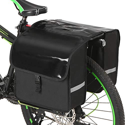 Roeam - Borsone da sella per bicicletta, 28 l, resistente all'acqua, per bicicletta posteriore, sedile del trasporto, borsa per bicicletta, borsa, attrezzatura per ciclismo, mountain bike, viaggio