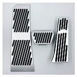 BENGKUI Ajuste para BMW 5 6 7 Series X3 X4 F25 F26 Z4 E85 F07 F08 F10 F11 F18 F06 F12 F13 F01 F02 F03 Freno DE Combustible DE Combustible Paso Pedal Pedal (Color Name : Whole Set)