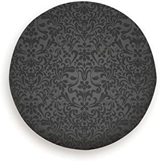 Tire Cover Black Color Style Damascus The Arts Polyester Universal Spare Wheel Tire Cover Wheel Covers Jeep Trailer Rv SUV Truck Camper Travel Trailer Accessories