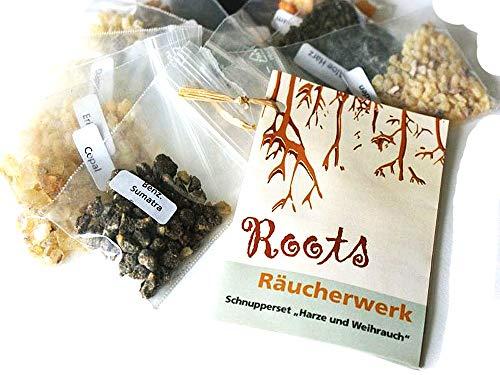 Räucherwerk, Schnupper-Set Harze und Weihrauch, 10tlg, incl. 32seitige Broschüre