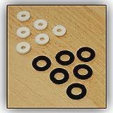 12 Fieltros Interior Piston Soundman para Trompeta / Corneta (6 x negro, 6 x blanco) Fieltro Pistones