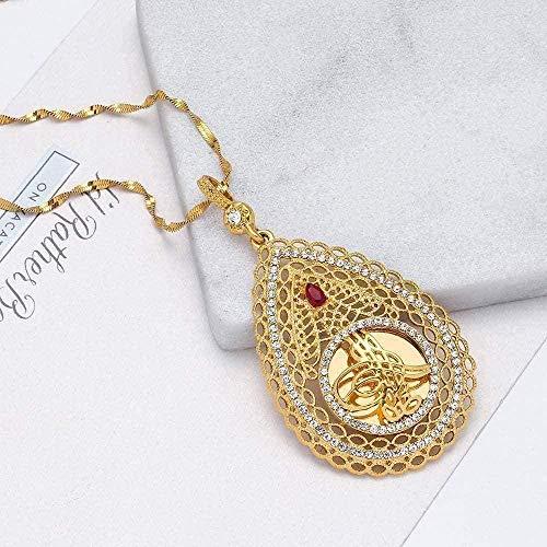 WYDSFWL Collar de Estrella de estómago judío de Color Dorado de David, Collar con Colgante, decoración para Mujer, Collar, Regalo