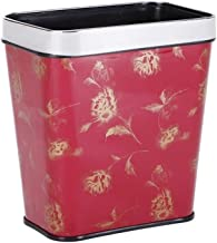 Wastebasket Without Cover 8L Rectangular Trash Can Kitchen Recycling Bin Household Plastic Garbage Can Kitchen,Bathroom,Of...