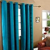 Homescapes handgewobener Vorhang Rajput im 2er Set Ösenvorhang Petrol 170 x 230 cm (Breite x Länge) Dekoschal in RIPP-Optik aus 100prozent Reiner Baumwolle