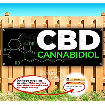CBD Shop Now Open 13 oz Heavy Duty Vinyl Banner Sign with Metal Grommets New Store Many Sizes Available Flag, Advertising