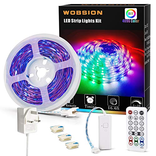 wobsion Color Changing Strip Lights, 5m led Strips...