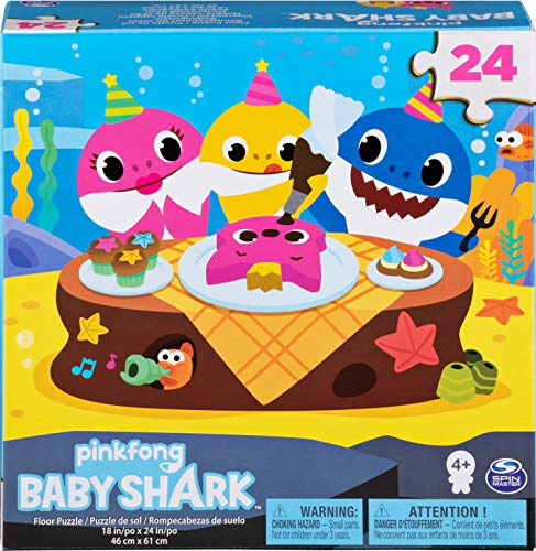Cardinal Games 6053614 Baby Shark 24pc Puzzle Multicolor , color/modelo surtido