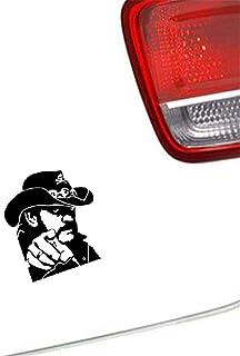 Auto Aufkleber Fenster Stoßstange LKW Karosserie Aufkleber zeigt Lemmy Gitarre 16,3x13,1 cm für Auto Laptop Fenster Aufkleber