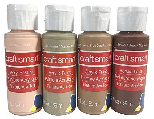 Craft Smart Acrylic Paint Skin Tone Colors (2 Ounce Bottles)