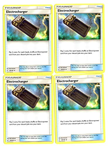 Sun Moon Team Up - Trainer Set - Electrocharger 139/181 - x4 Item Card lot