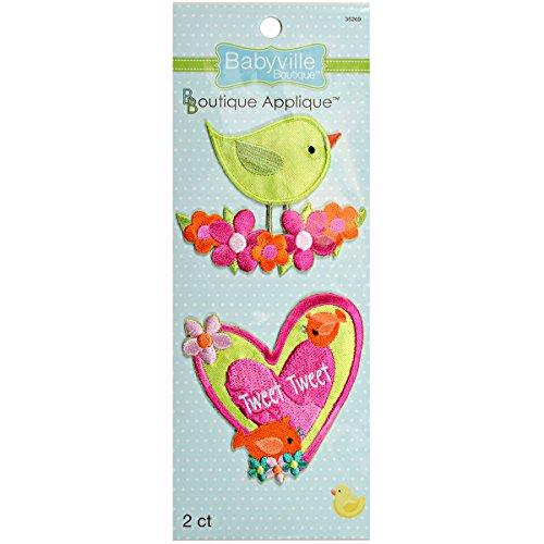 Dritz Babyville Boutique 2 Telling Appliques, Kleine Vogels, Acryl, Multi kleuren, 19.3x6.85x0.25 cm