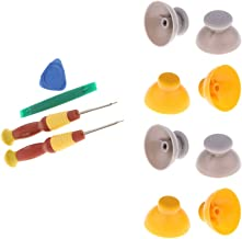 D DOLITY For Nintendo GameCube Joystick Caps 4 Left [Grey] and 4 Right [Yellow] Replacement Part with Tri-wing Screwdriver...