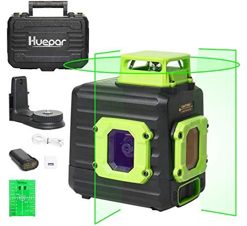 Huepar B21CG – El nivel láser rotativo con base magnética