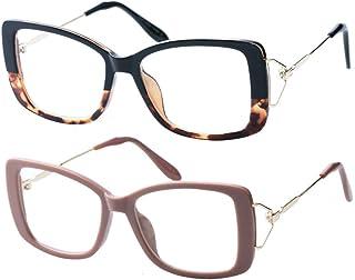 SOOLALA Ladies Lightweight Large Frame Eyeglass Fashion...