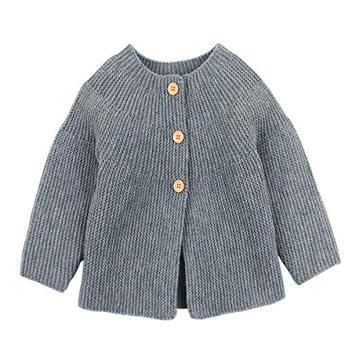 Spring Baby Girl Sweater Cardigans Autumn Newborn Knitted Jackets Toddler Infant Knitwear Coats Gray 82W480 6M