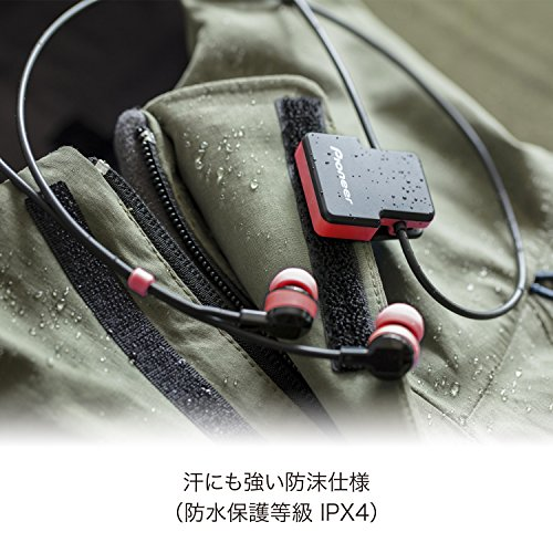 Pioneer SE-CL5BT-R - Auricular Deportivo (Bluetooth, micrófono Integrado) Color Rojo