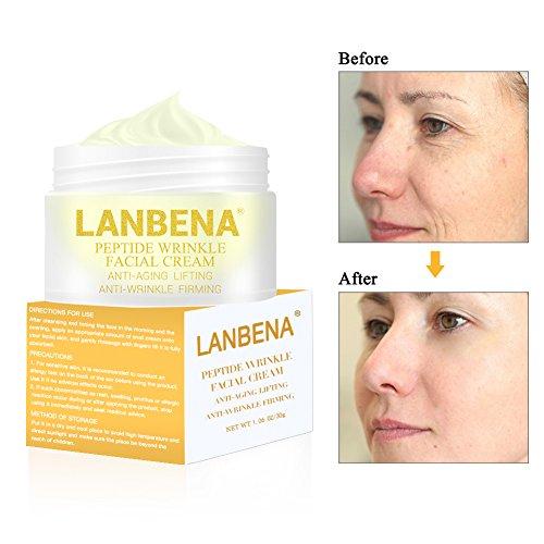 Anti-edad Crema hidratante, Crema Antiarrugas Facial para Día y Noche - Reafirmante, Nutre y Repara - 30 ml
