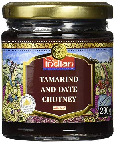TRULY INDIAN Tamarinden-Dattel Chutney – Mild-würzige Fruchtpaste als Dip oder Fertigsauce für schnelle Gerichte – Indisch kochen mit natürlichen Zutaten – 6 x 230 g