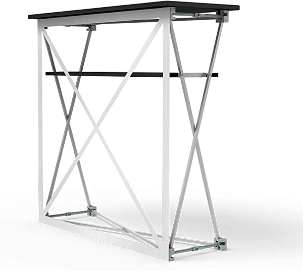 Vispronet Promotional Counter Frame And Black Table Top Frame Measures 3 5ft X 3 4ft X 1 3ft And Weighs 27 5lbs Also Includes Matching Shelf For Additional Storage Space And A Bonus Carrying Case