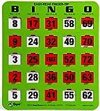 Regal Games Easy Read 5-Ply Jumbo Finger-Tip Shutter Slide Bingo Cards, Green (50-Pack)