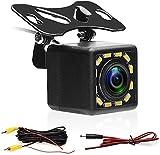 Camecho Telecamera di retromarcia con Super Night Vision IP67 Telecamera di retromarcia impermeabile per auto 170° Grandangolare 12 LED Visioni notturne Telecamere di retromarcia di backup