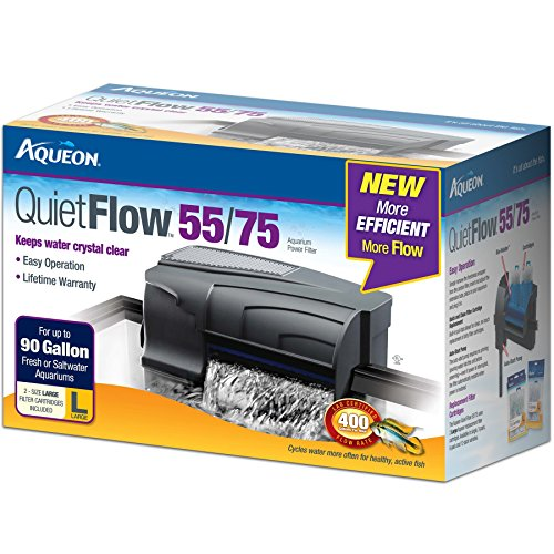 Aqueon QuietFlow LED PRO Aquarium Power Filter 75