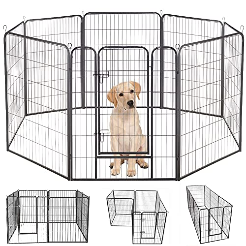 Bosely Heavy Duty Protect Design 8 Panels Foldable Pets Dog Playpen, 40 Inches High
