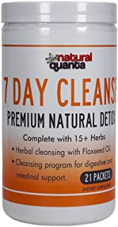 7 Day Cleanse Premium Natural Detox Complete with 15+ Herbs 21 Packets
