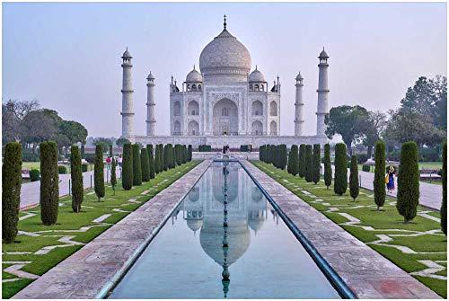 Puzzle 1000 Piezas,Adulto Puzzle,Rompecabezas De Madera,Paisaje De Taj Mahal,Colección De Arte De La Familia