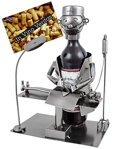 Brubaker Weinflaschenhalter Chirurg - Metall Skulptur inklusive Geschenkkarte