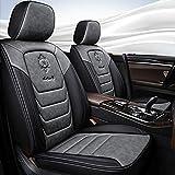 Chemu Autositzbezug-Set Universeller Autositzschutz Airbag-kompatibles Autozubehör Für 3 Series E46 E90 F30 5 Series E39 E60 F10 X3 (Grau)
