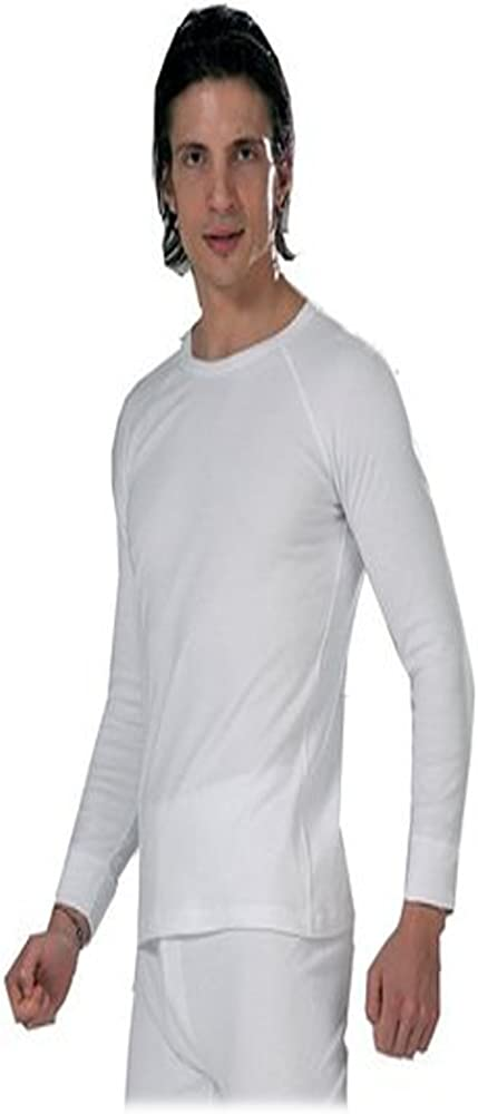 Men's Thermal White 100% Cotton(240 Gsm) Soft Long Sleeve Fitted T-shirt Top