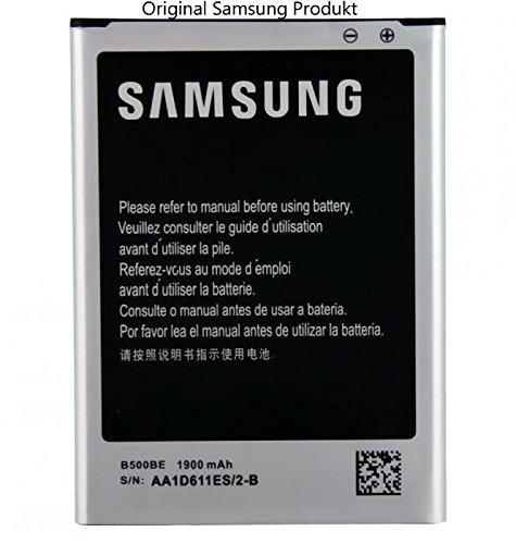Samsung EB-B500BE - Batería de 1900 mAh para Samsung Galaxy S4 Mini GT-i9190 / GT-i9195 (sin NFC, con tapón para conexión de auriculares de 3,5 mm)
