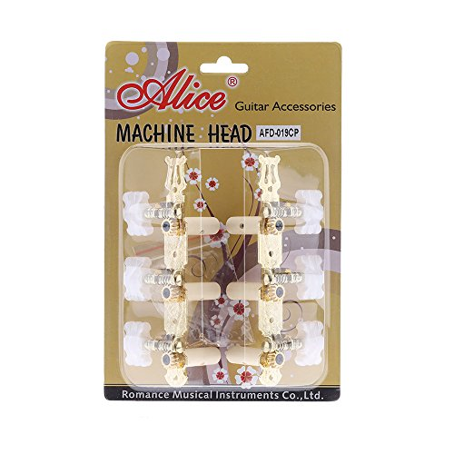Andoer® Alice AFD-019CP 1 Pair Classic Guitar String 3+3 Tuning Pegs Tuners Machine Heads