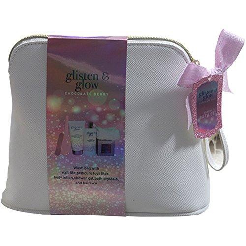Gloss! Glitsen And Glow Trousse de Bain Grenade 6 Pièces, Coffret Cadeau-Coffret de bain