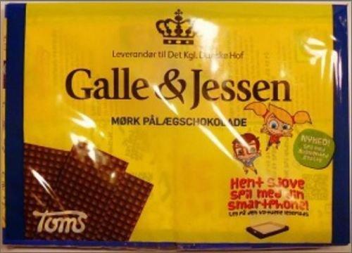 10 x GALLE & JESSEN MØRK PÅLÆGSCHOKOLADE ZARTBITTER 216g Incl. Goodie von Flensburger Handel