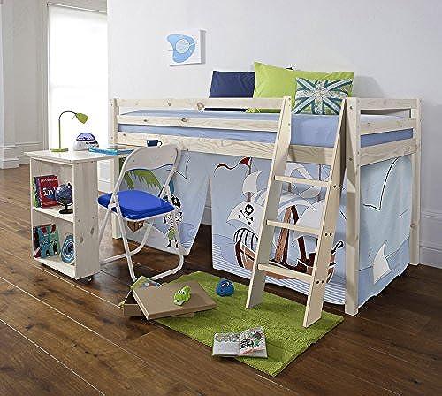 Noa and Nani Piraten-Zelt, Schreibtisch aus Weiß gekalktem Kiefernholz