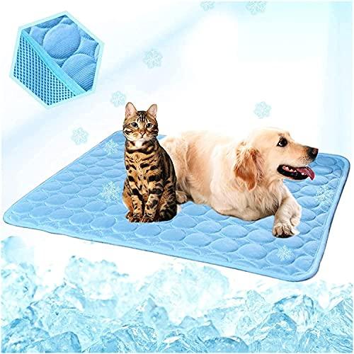 XJYXH Waschbare Sommer Kühlmatte Für Hunde Katzen Kennel Matte Atmungsaktive Haustierkiste Pad Cusion Schlafmatte Haustier Selbstkühlmatte (Farbe: Grau, Größe: XXL 150x100cm)