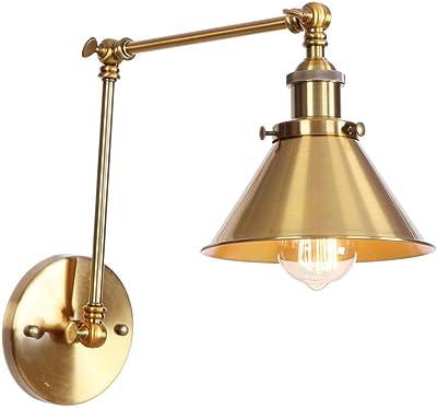 TRADE® Applique Murale Éclairage Réglage du bras Industriel Rétro Grenier Ancien Applique Luminaire (Ampoules non incluses) pour Home Cafe Bar Décor