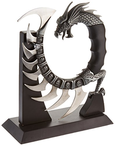 Fantasy Master FM-571 Fantasy Dragon Show Blade with Stand, 8-Inch Overall , Black