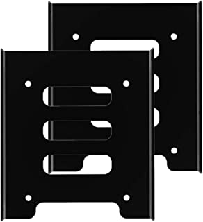 [2 Packs] GLOTRENDS 2.5 to 3.5 Inch SSD HDD Holder Metal Mounting Bracket (2x25Rack)