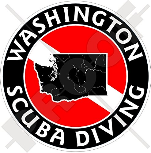 WASHINGTON SCUBA Duiken Vlag-Map Vorm VS, Amerika 100mm (4